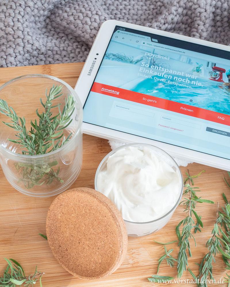 Wellnesswochen paydirekt onlineshopping diy fussbutter