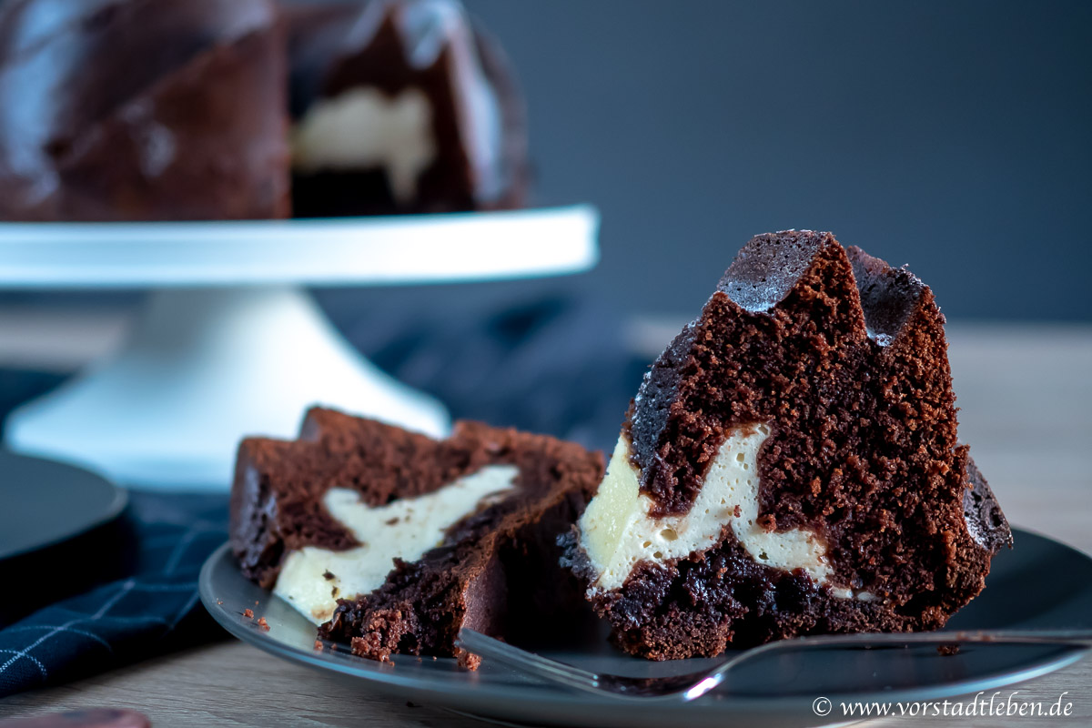 lecker ins wochenende rezept gugelhupf mit cheesecake
