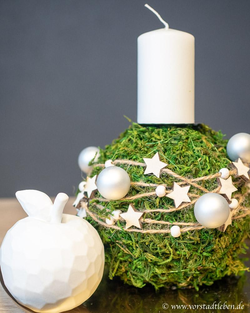 Adventsdeko weihnachtsdeko basteln mooskugel