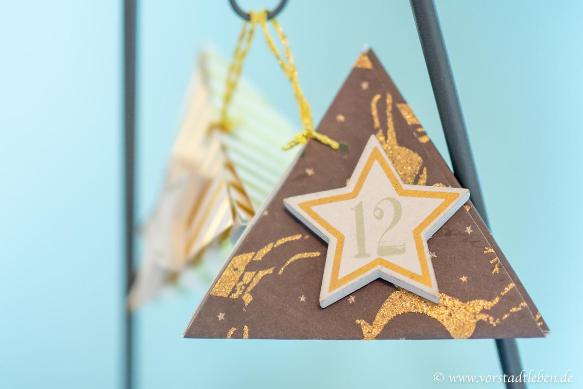 Adventskalender modern geschenkverpackung falten