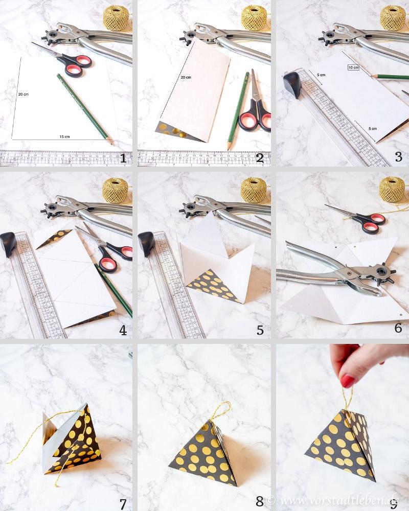 Anleitung Geschenkverpackung Dreieck