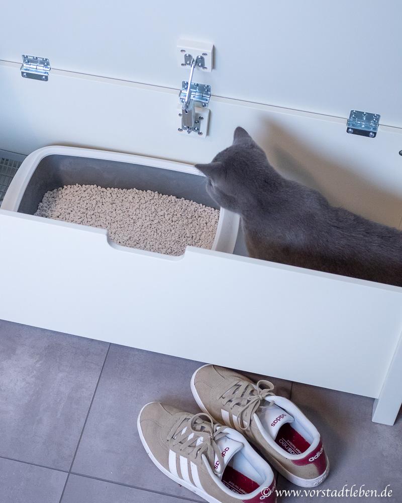 Katzentoilette Sitzbank Katzenklo versteckt