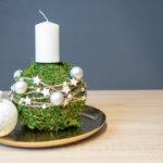 Mooskugel dekoration kerze Advent