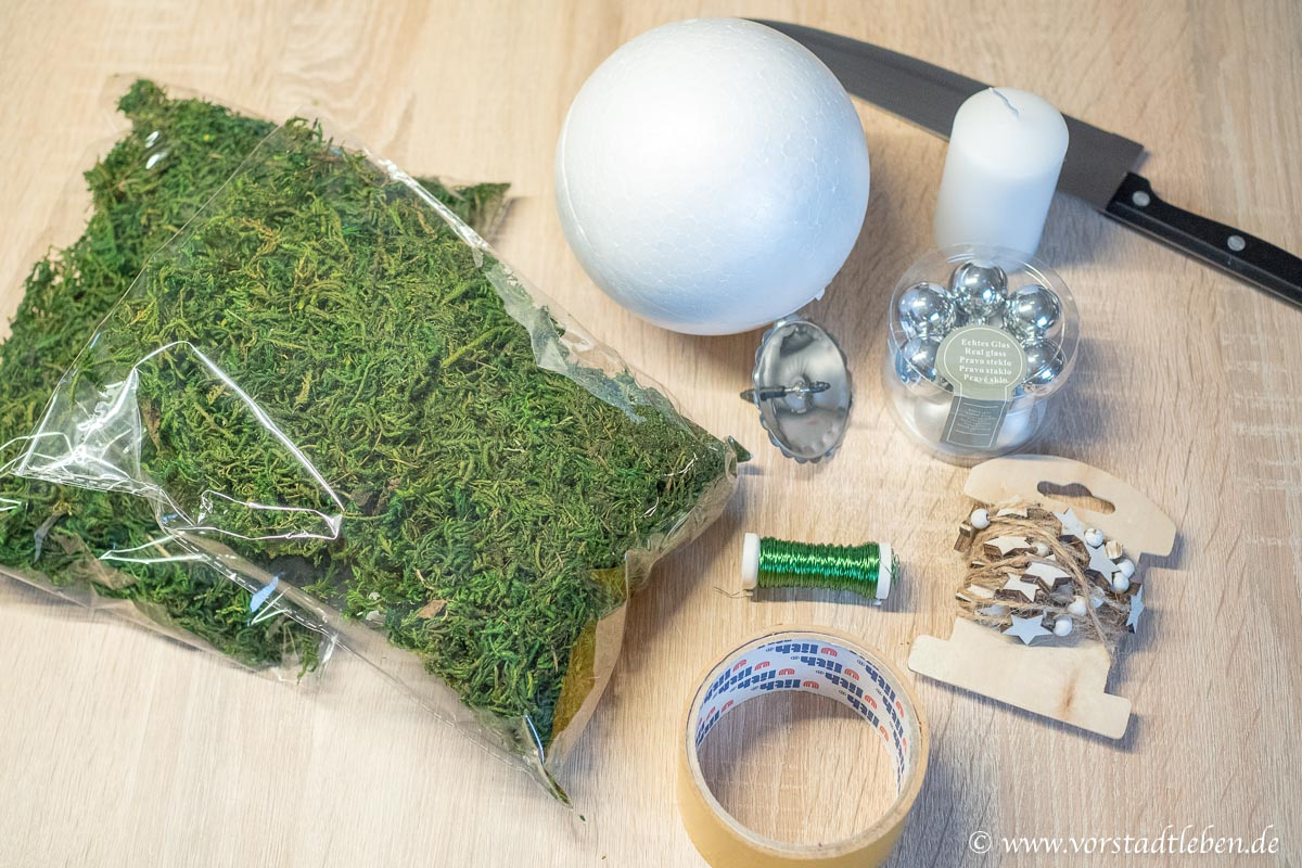 Mooskugel selber machen basteln material