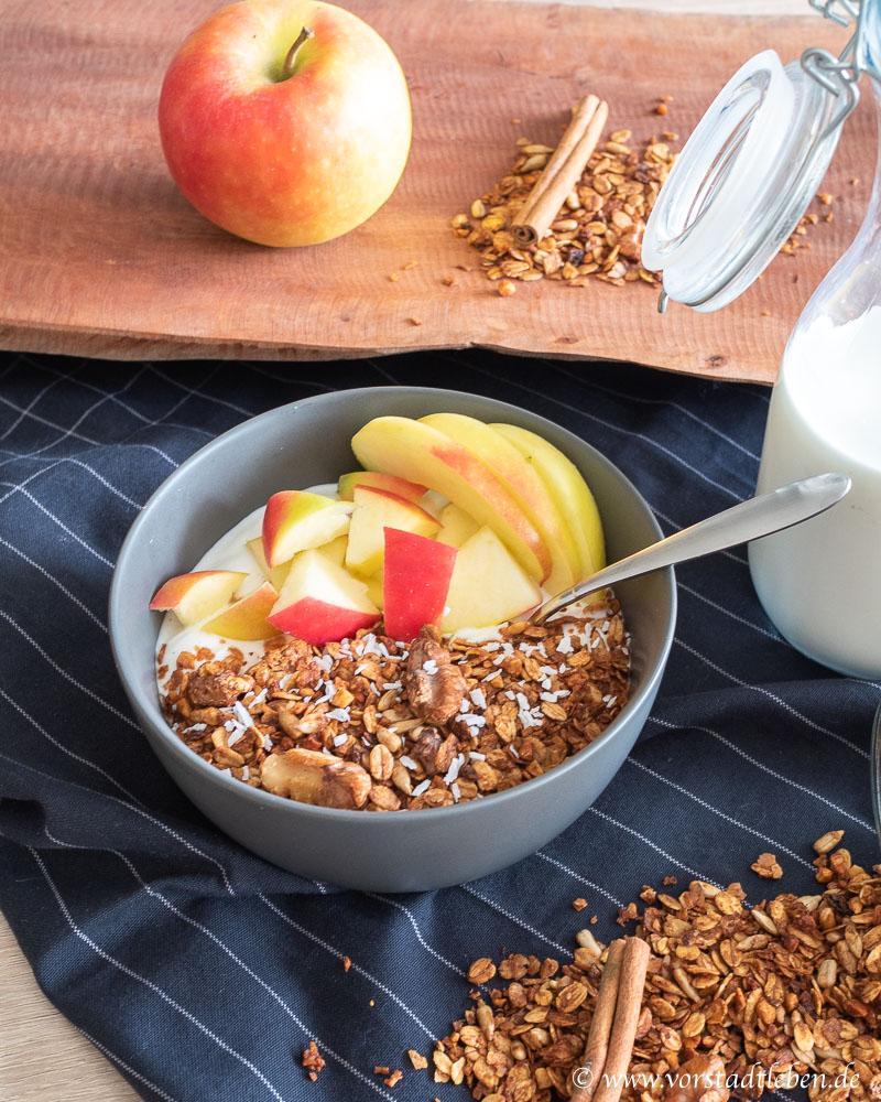 Rezept Granola mit Zimt und Apfel