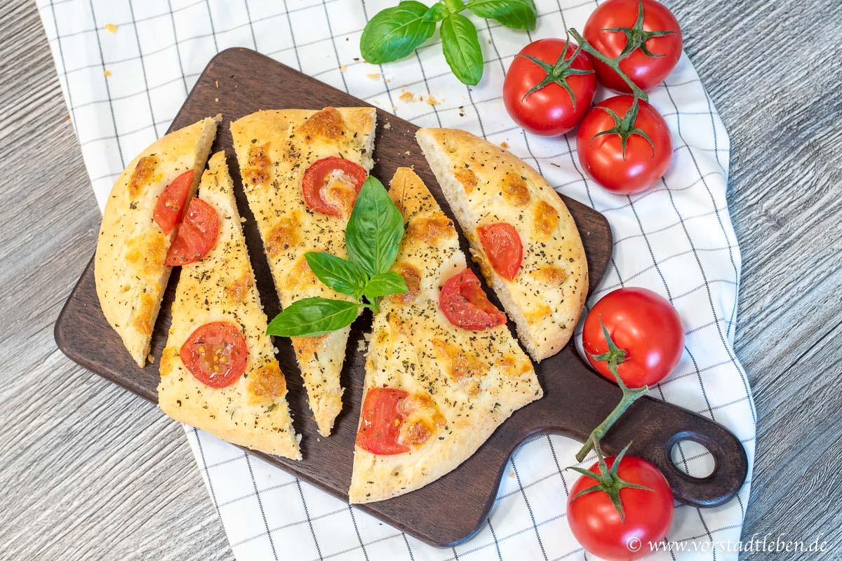 foccaccia tomate mozzarella