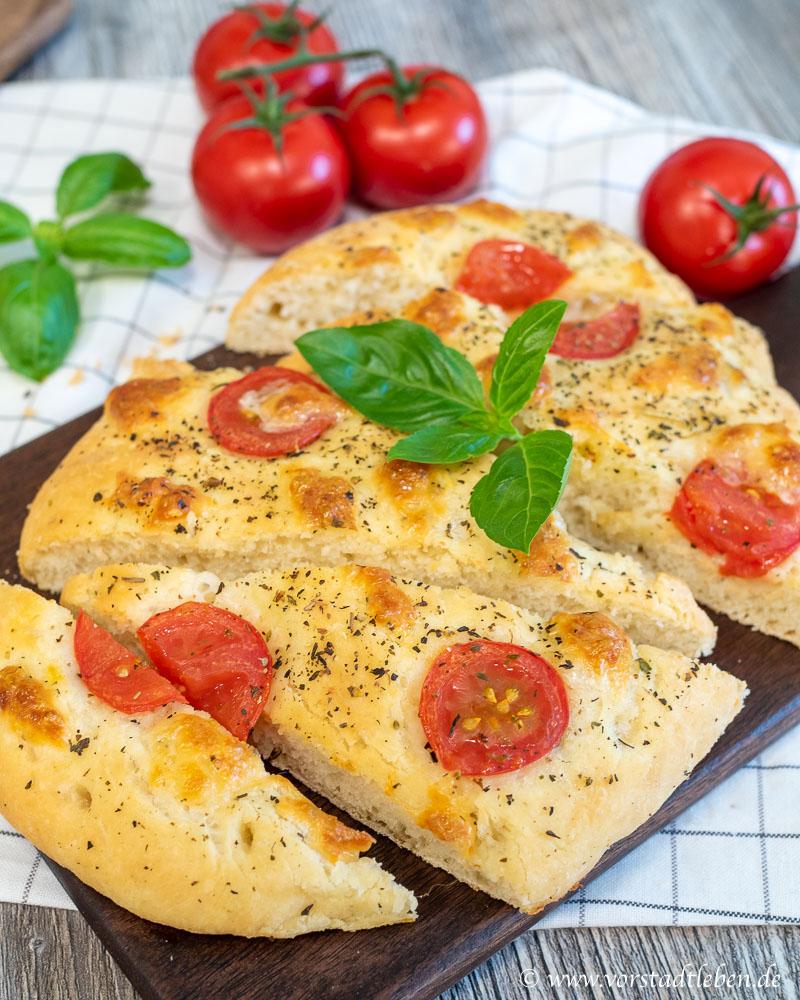foccaccia tomate mozzarella rezept lecker ins wochenende