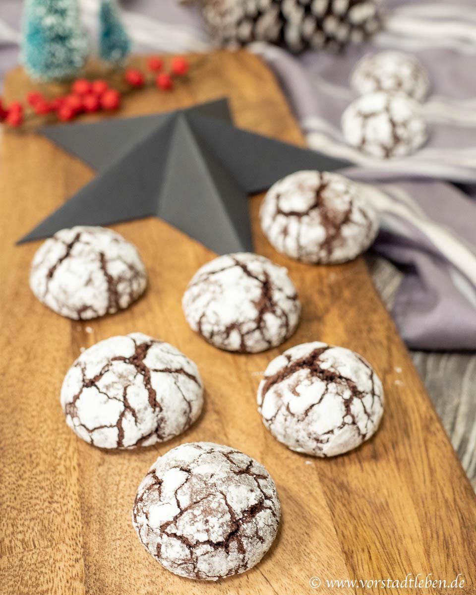 Crinkle Cookies Rezept Weihnachten