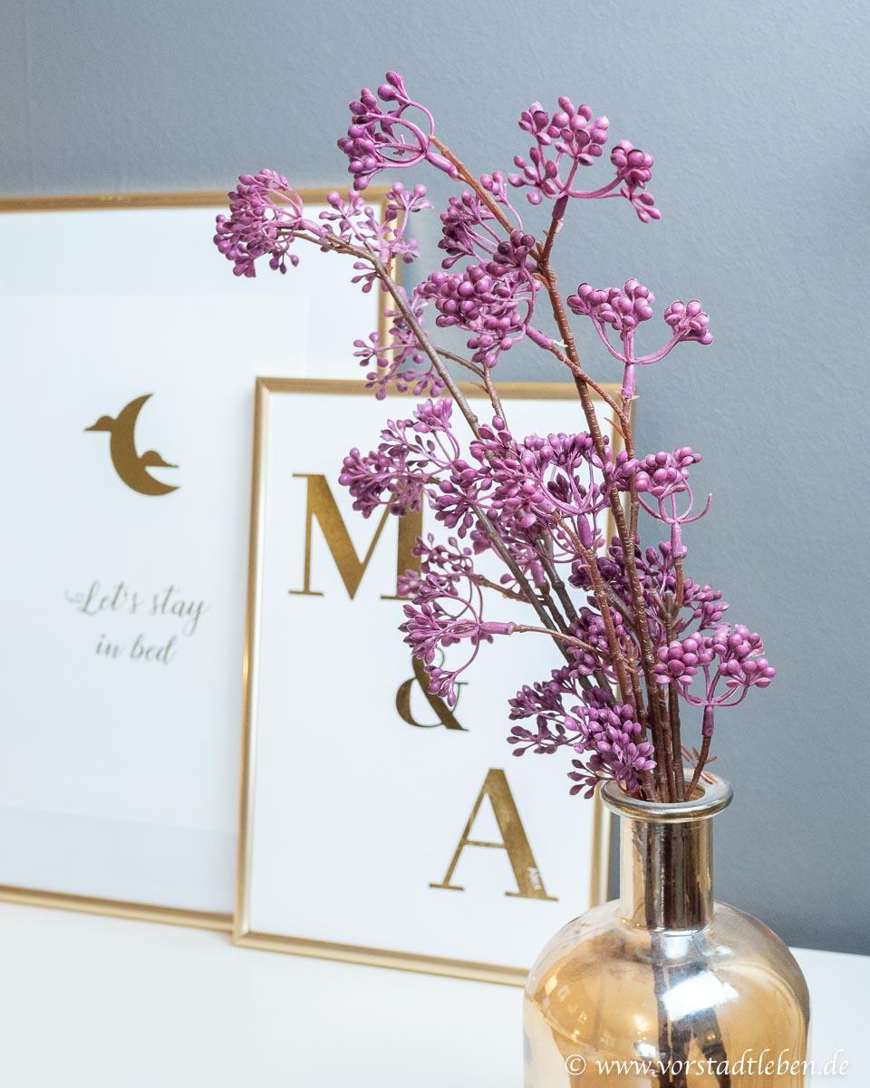 Goldene Dekoration Schlafzimmer Typographie Poster Freebie