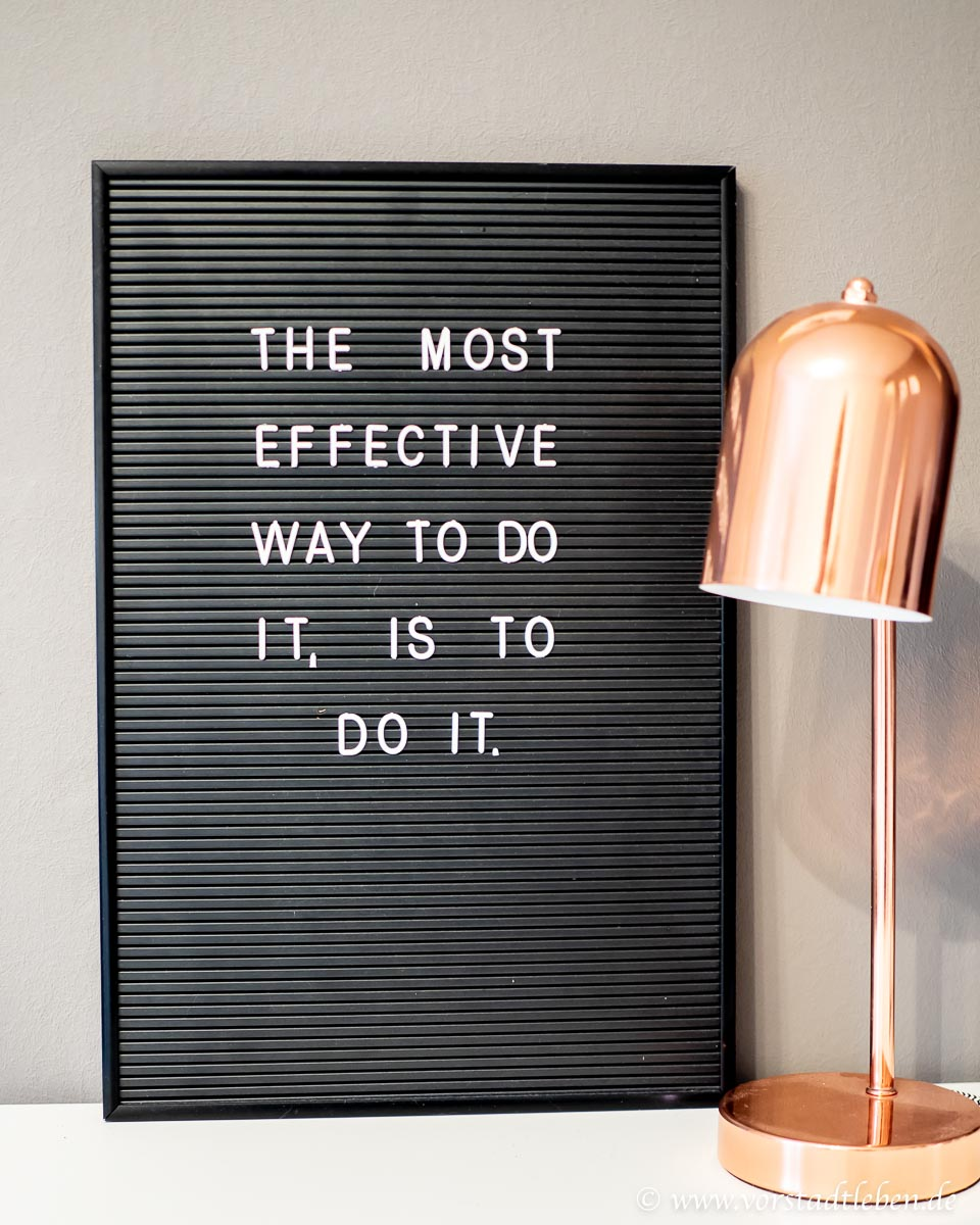 Motivationsspruch Quote Buero Letterboard