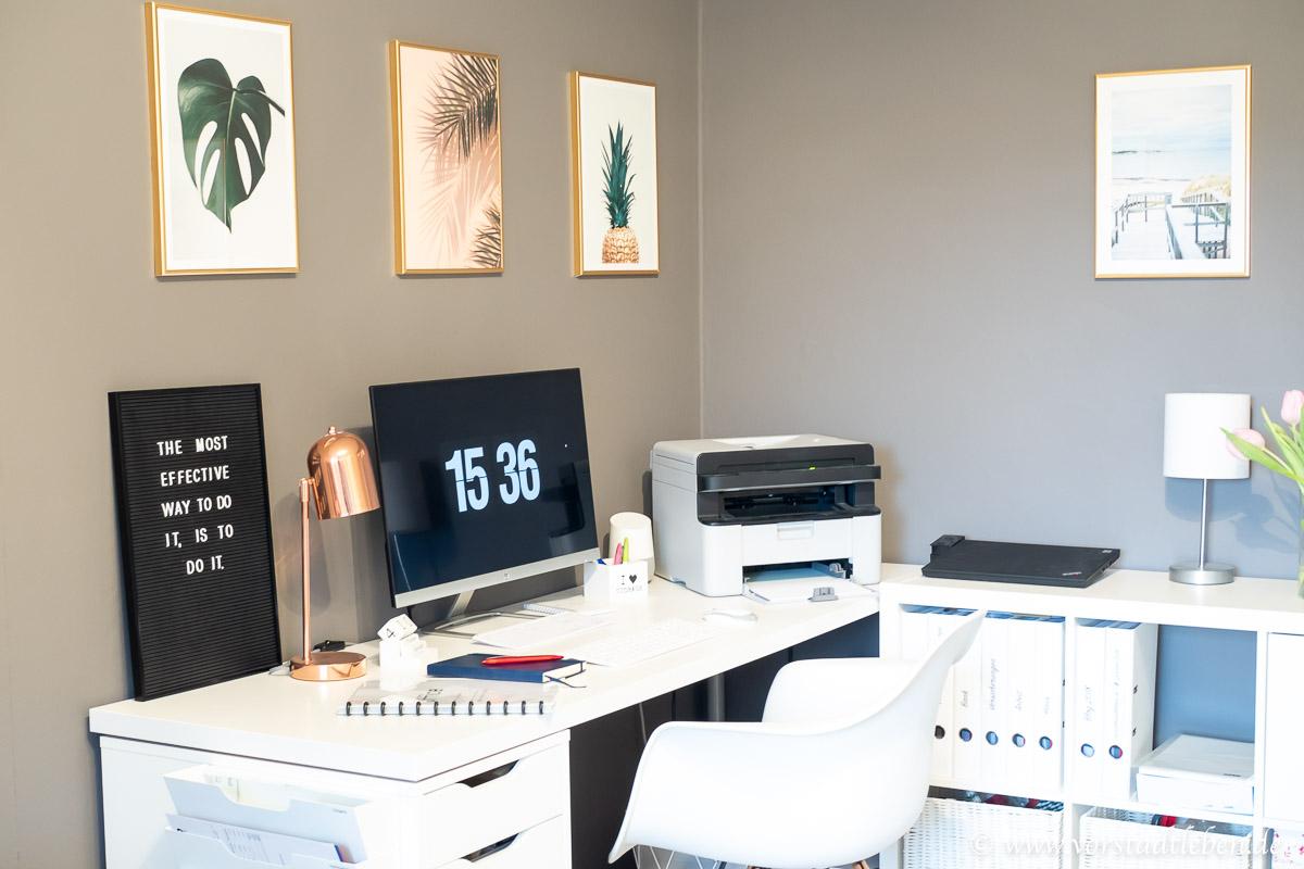 Ordnung am Arbeitsplatz Schreibtisch