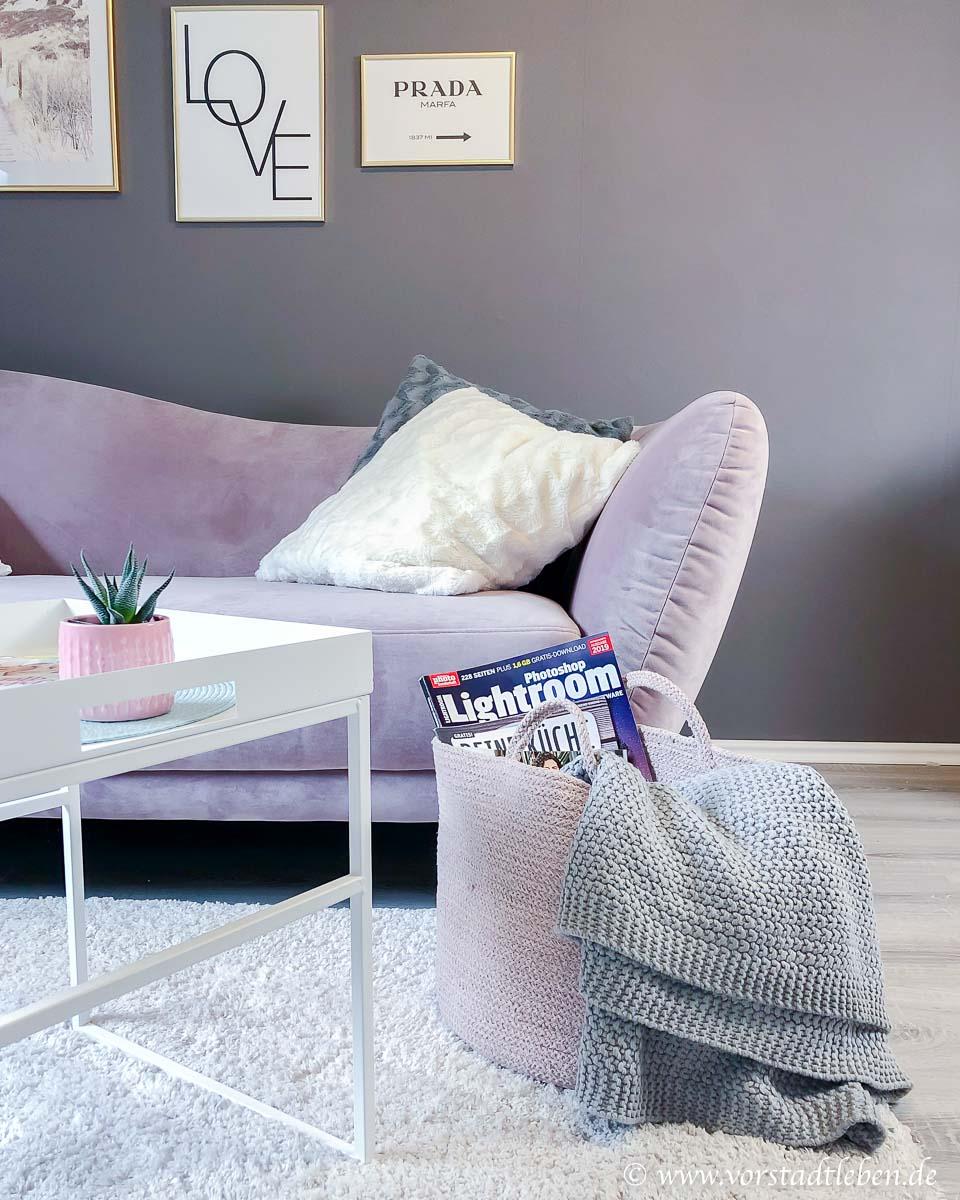 Ordnung halten sofa korb