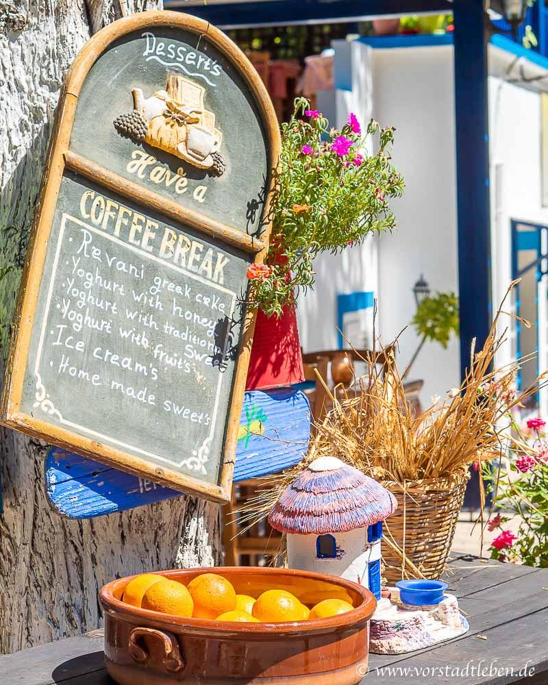 Urlaub auf kos Ausflug zum Bergdorf Zia Coffee Break