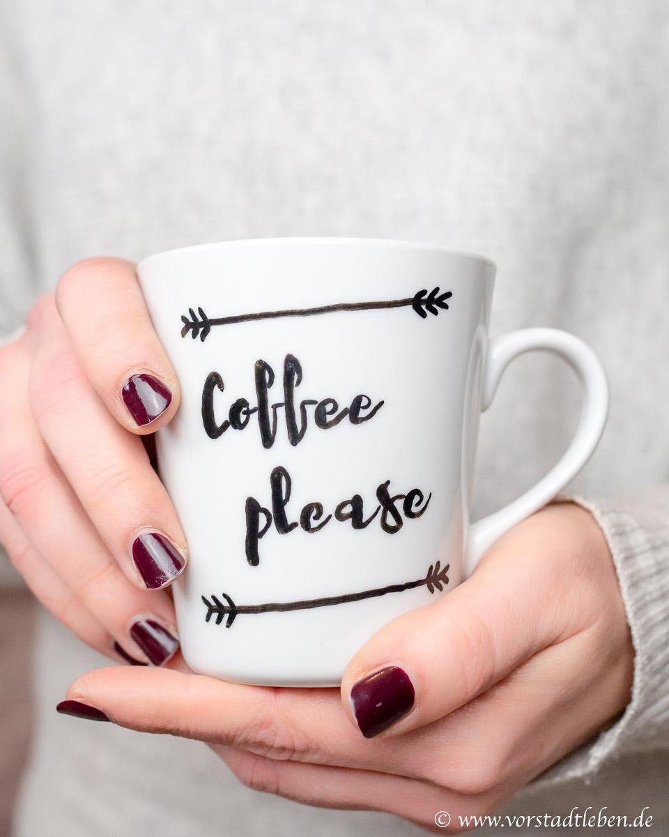 Lettering Tasse Coffee please