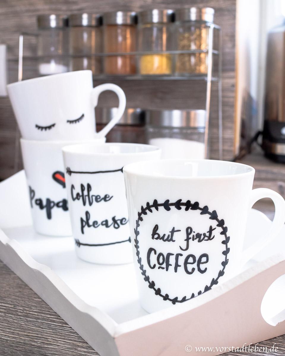 Lettering auf Tassen DIY