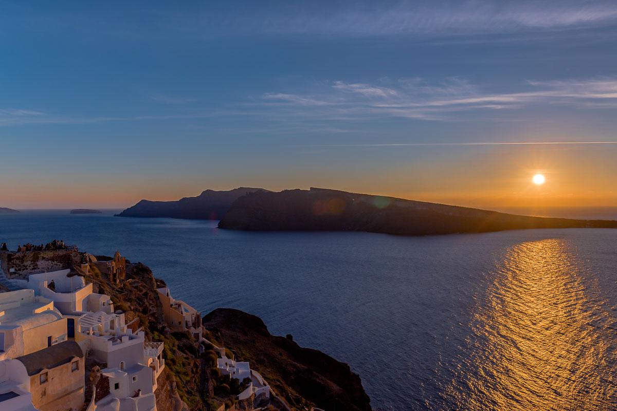 Sommer mit PETER HAHN Sonnenuntergang Griechenland