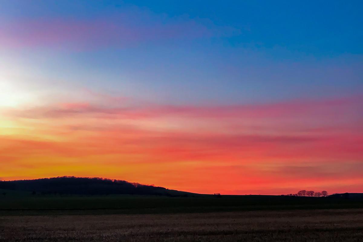 Veraenderungen Sonnenuntergang