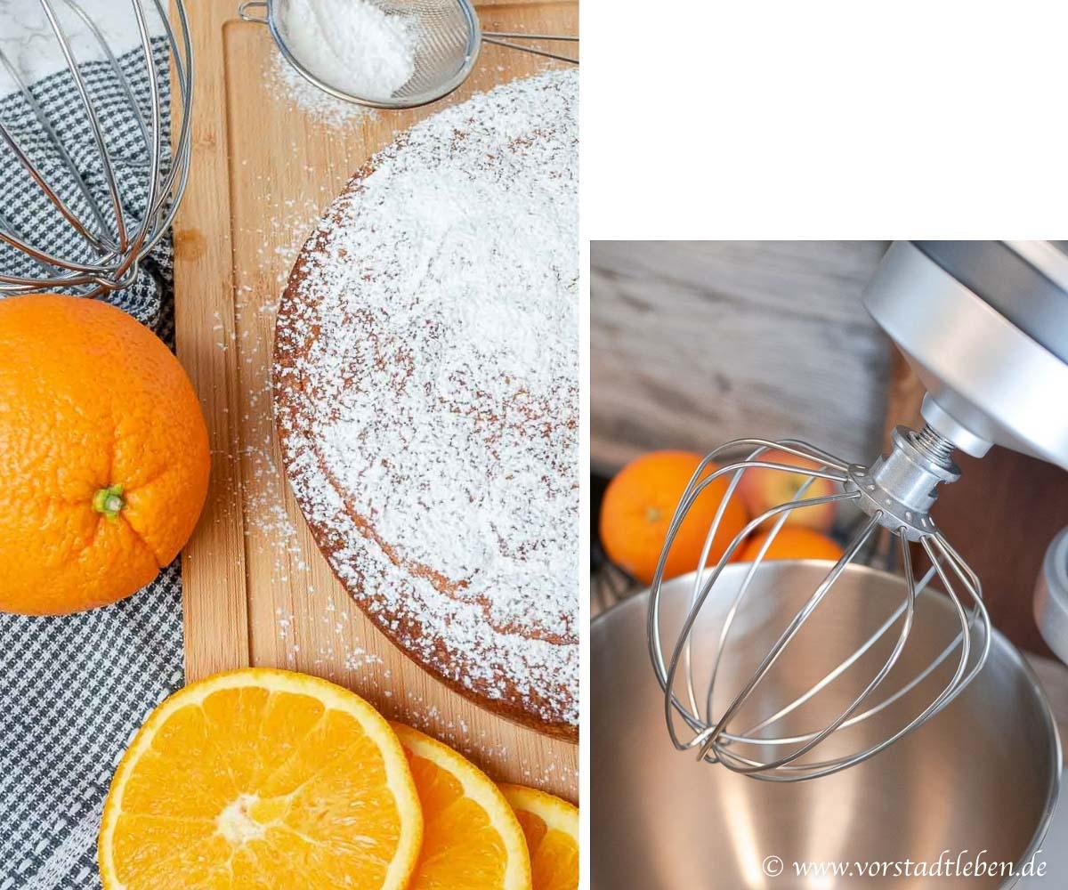 Orangenkuchen Ruehrkuchen Kuechenmaschine