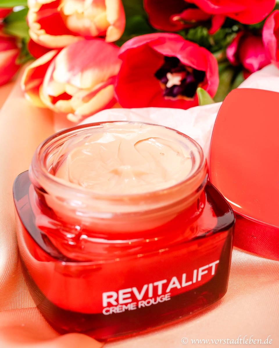 creme rouge revitalift loreal hautpflege im fruehling
