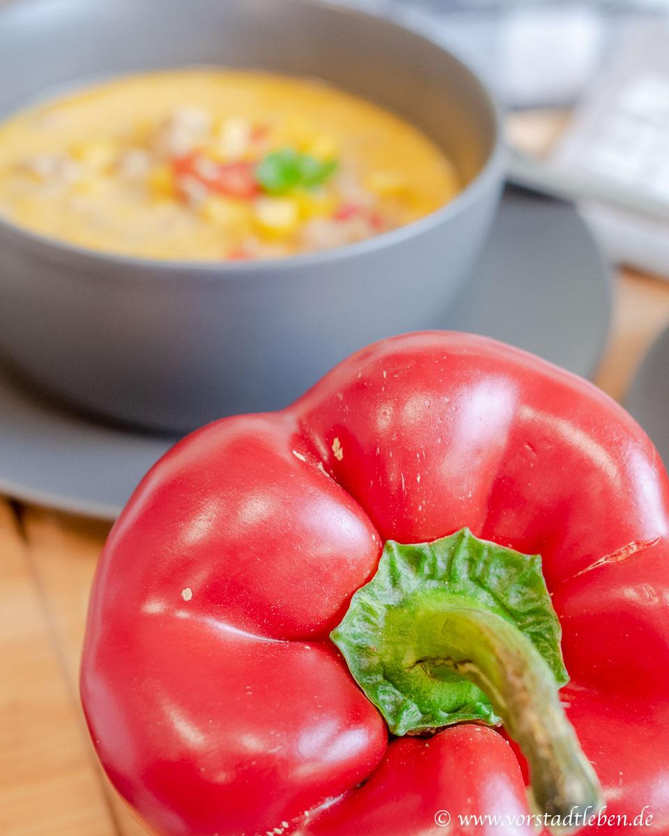 maissuppe mit Paprika rezept Feierabendküche