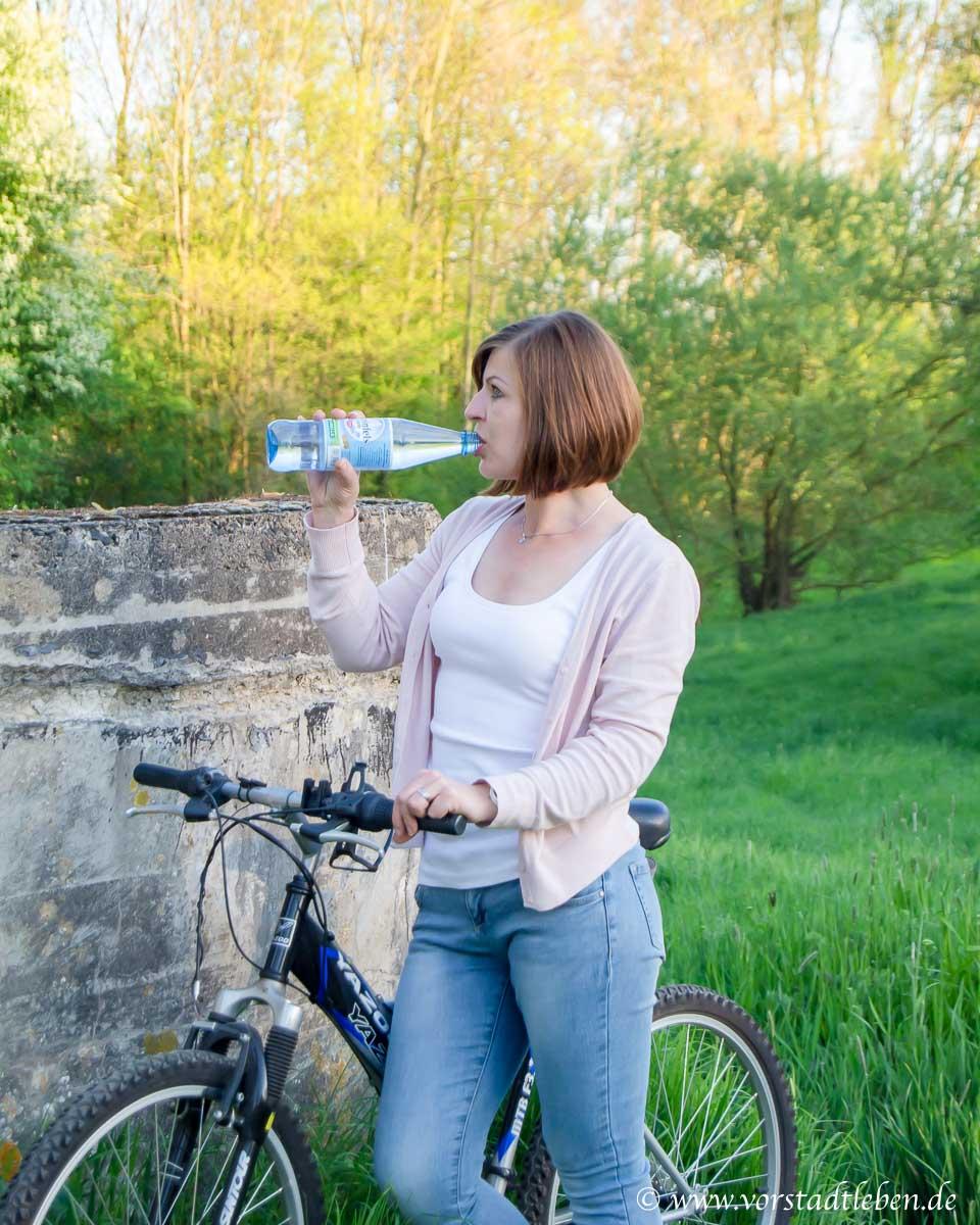Fahrrad pause trinken rheinfels quelle