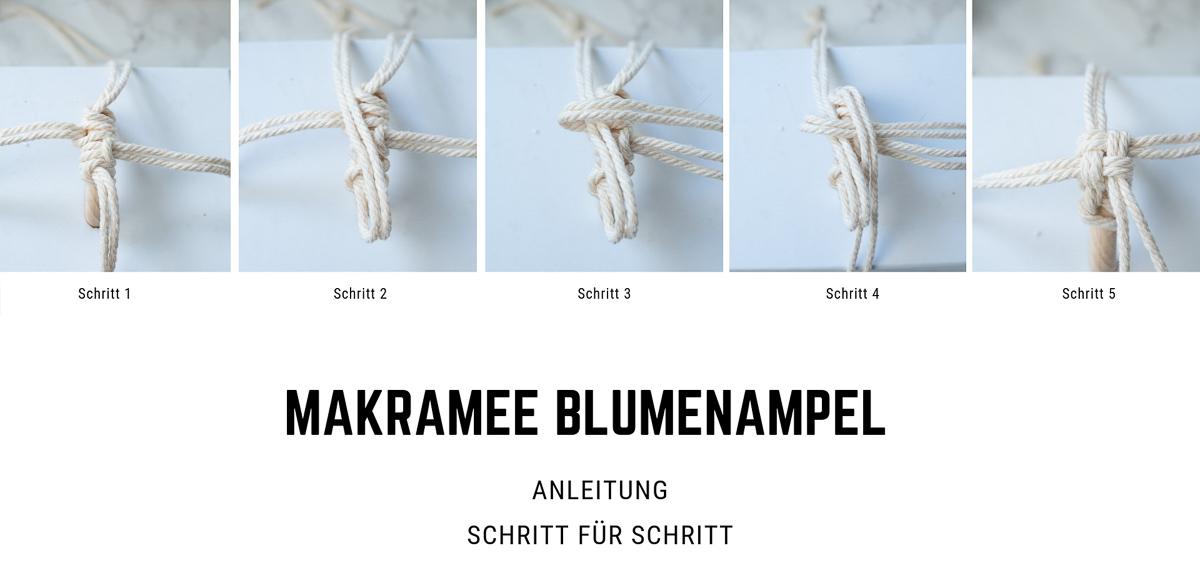 MAKRAMEE BLUMENAMPEL ANLEITUNG step by step