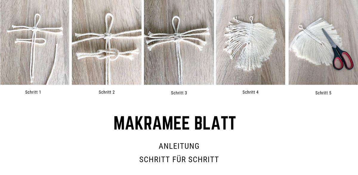 Makramee Blatt step by step