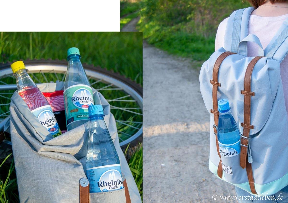 Rheinfels quelle im rucksack dabei