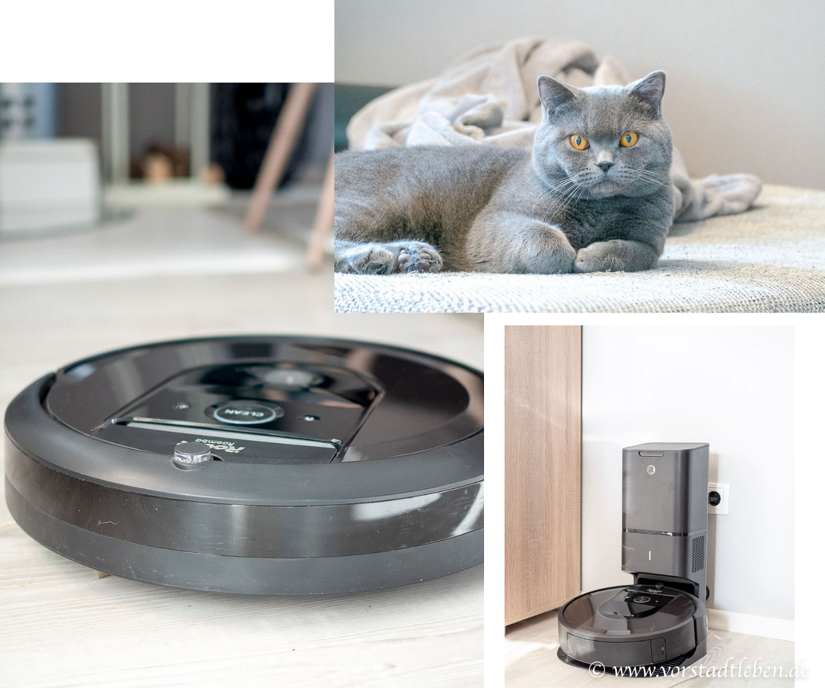 iRobot Roomba i7 plus Saugroboter Clean Base Tierhaare