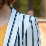 shirt gelb blazer gestreift akzente