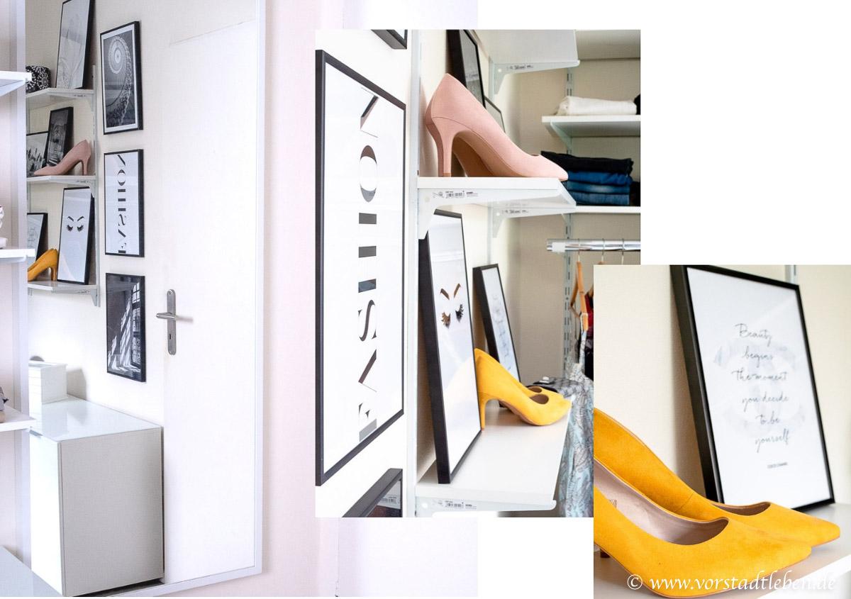 Ankleidezimmer Collage Einrichtung