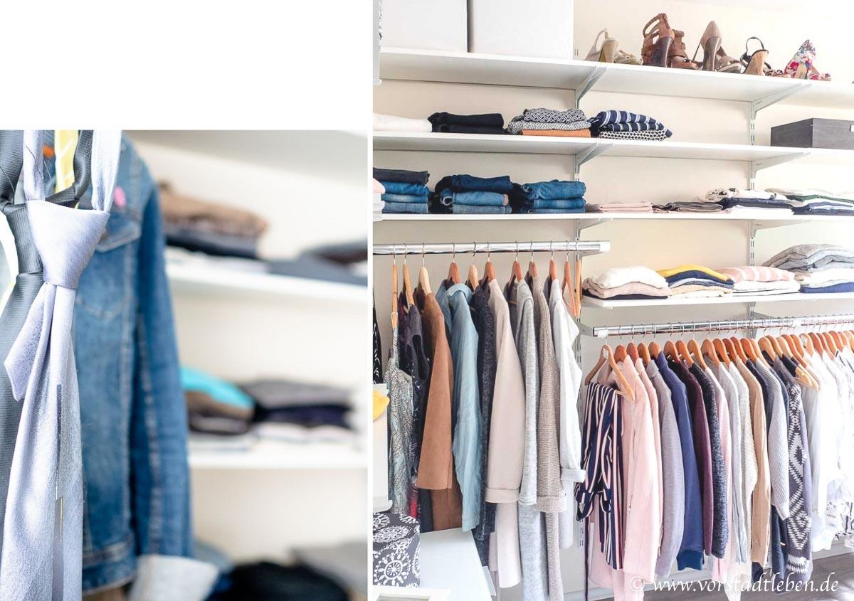 Ankleidezimmer begehbarer Kleiderschrank offenes Schranksystem