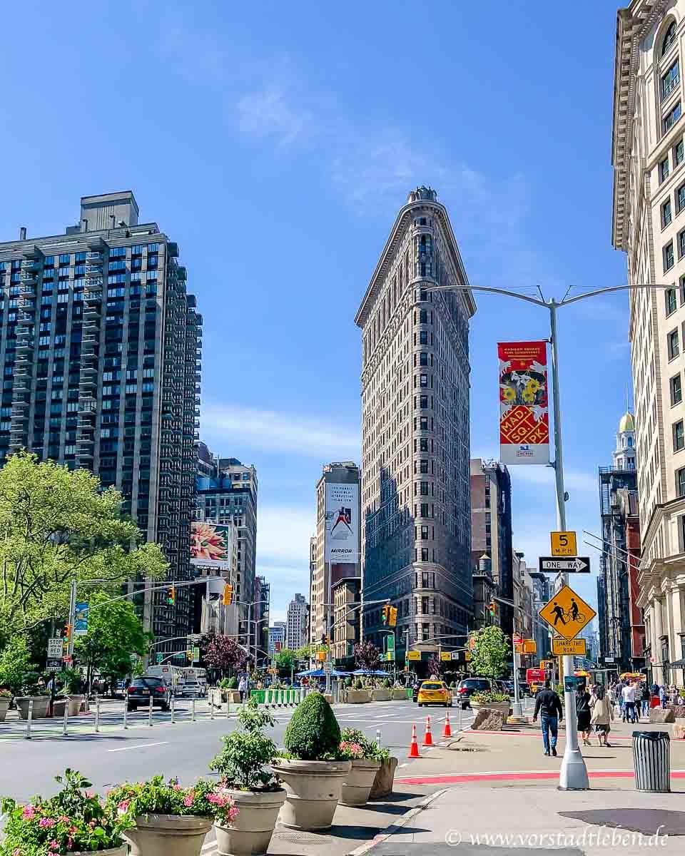 New York blick auf flatiron building