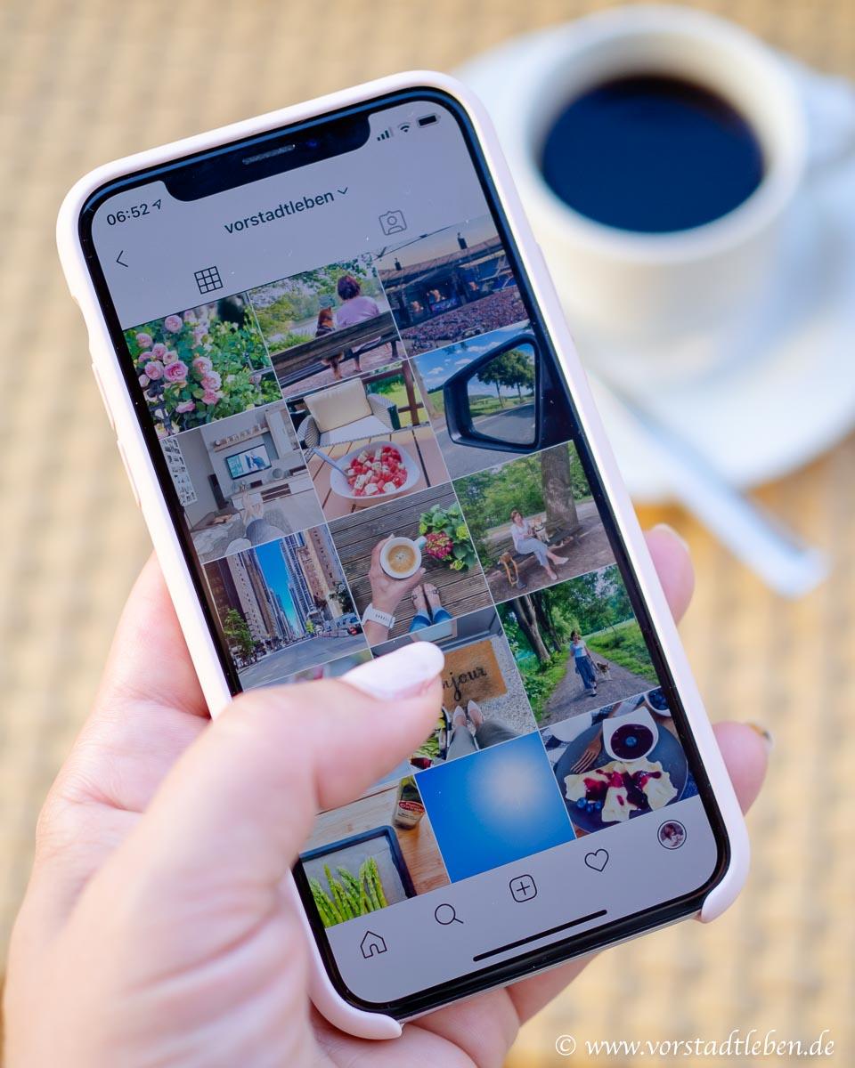 Instagram Zeitfresser Kaffee Smartphone
