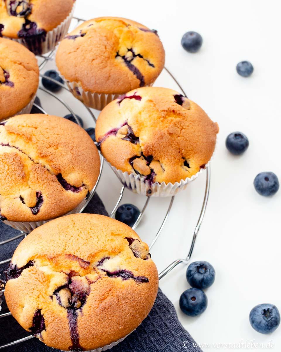 Blaubeermuffins Blueberrymuffins
