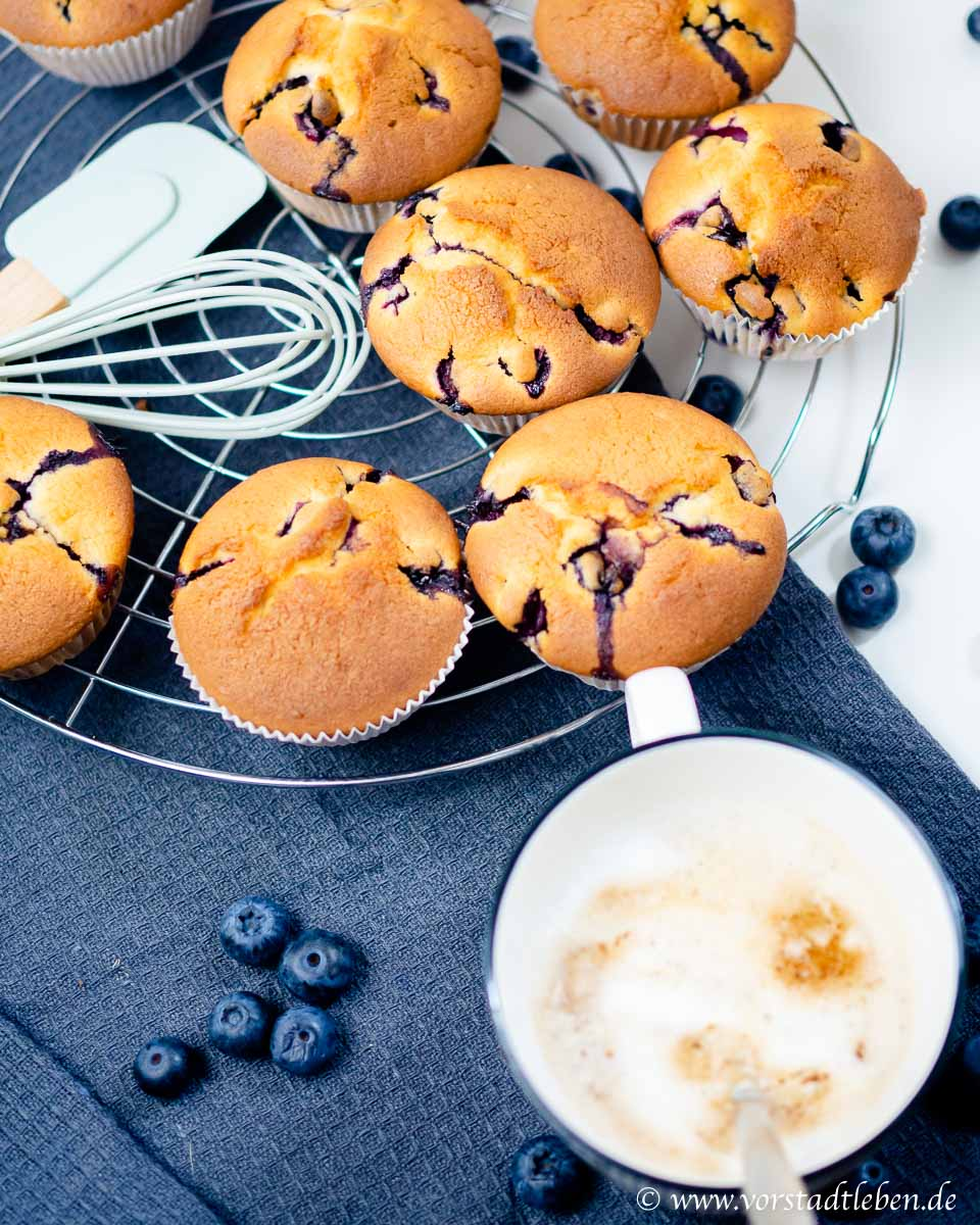Blaubeermuffins Muffins mit Heidelbeeren Rezept