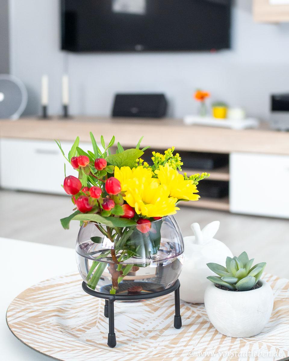 Blumen Deko Wohnzimmer