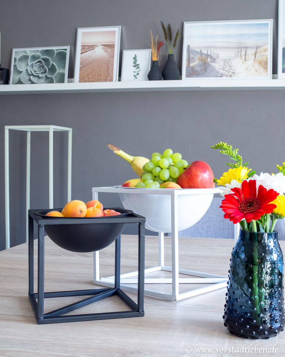 Dekoration Wohnzimmer Obstschalen Blumen Poster