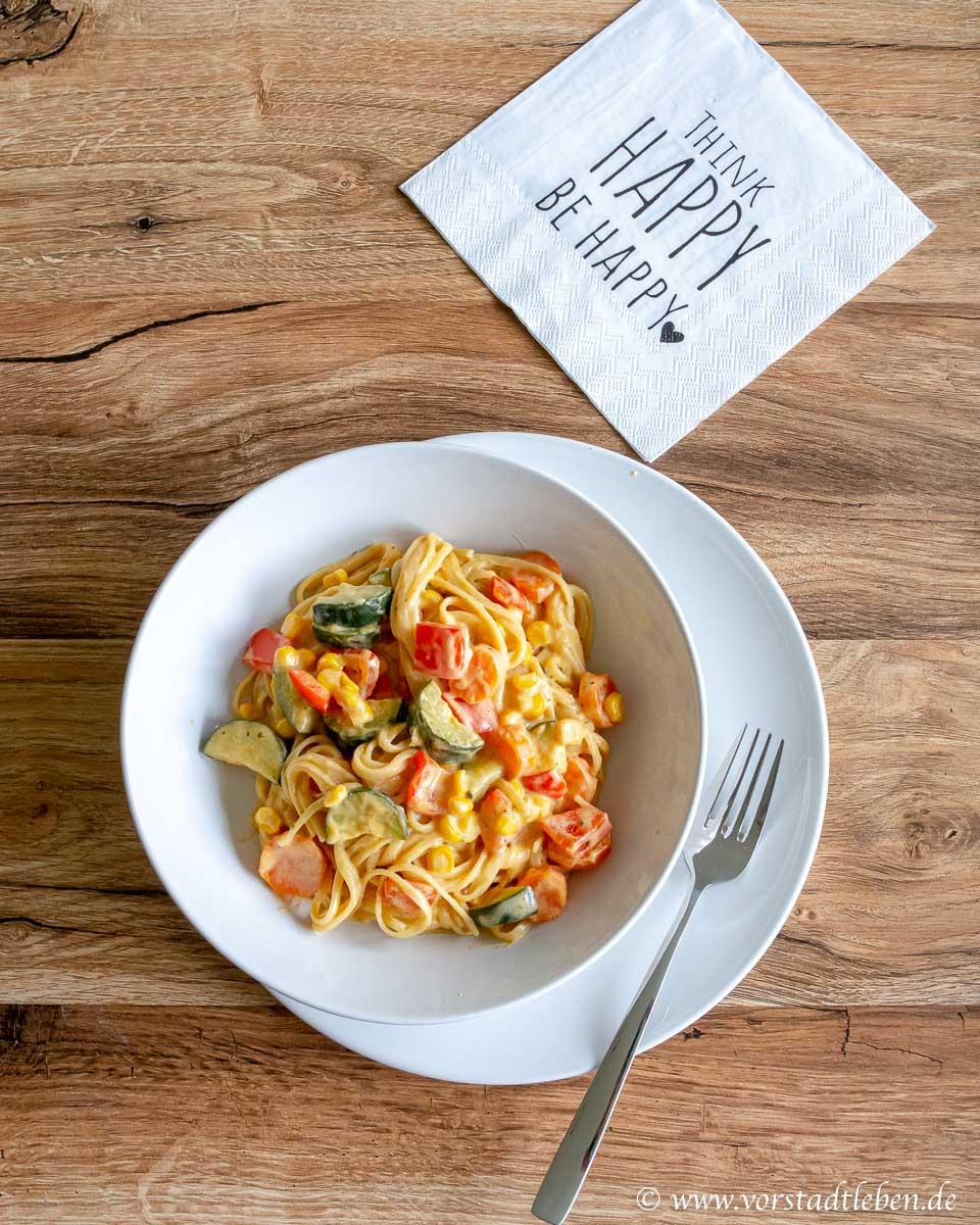 Rezept One Pot Curry Pasta